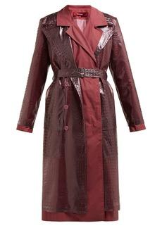 Sies Marjan Devin faux crocodile-effect layered trench coat