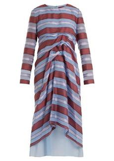 Sies Marjan Elodie striped-jacquard silk dress
