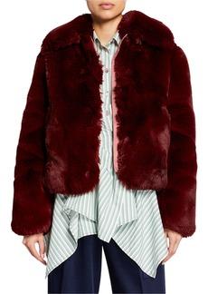 Sies Marjan Faux-Fur Zip-Front Jacket