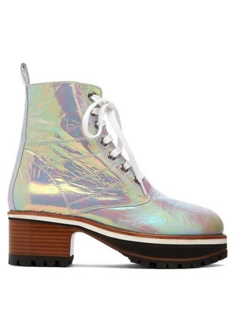 Sies Marjan Jessa iridescent leather ankle boots