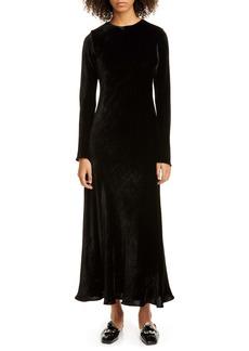 Sies Marjan Josephine Velvet Long Sleeve Maxi Dress