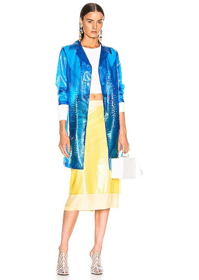 Sies Marjan Mie Embossed Plastic Coat