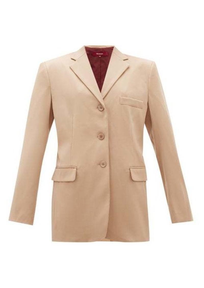 Sies Marjan Molly single-breasted wool-twill jacket