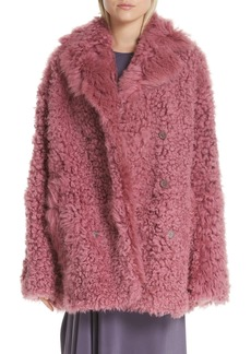Sies Marjan Peact Pippa Genuine Shearling Peacoat