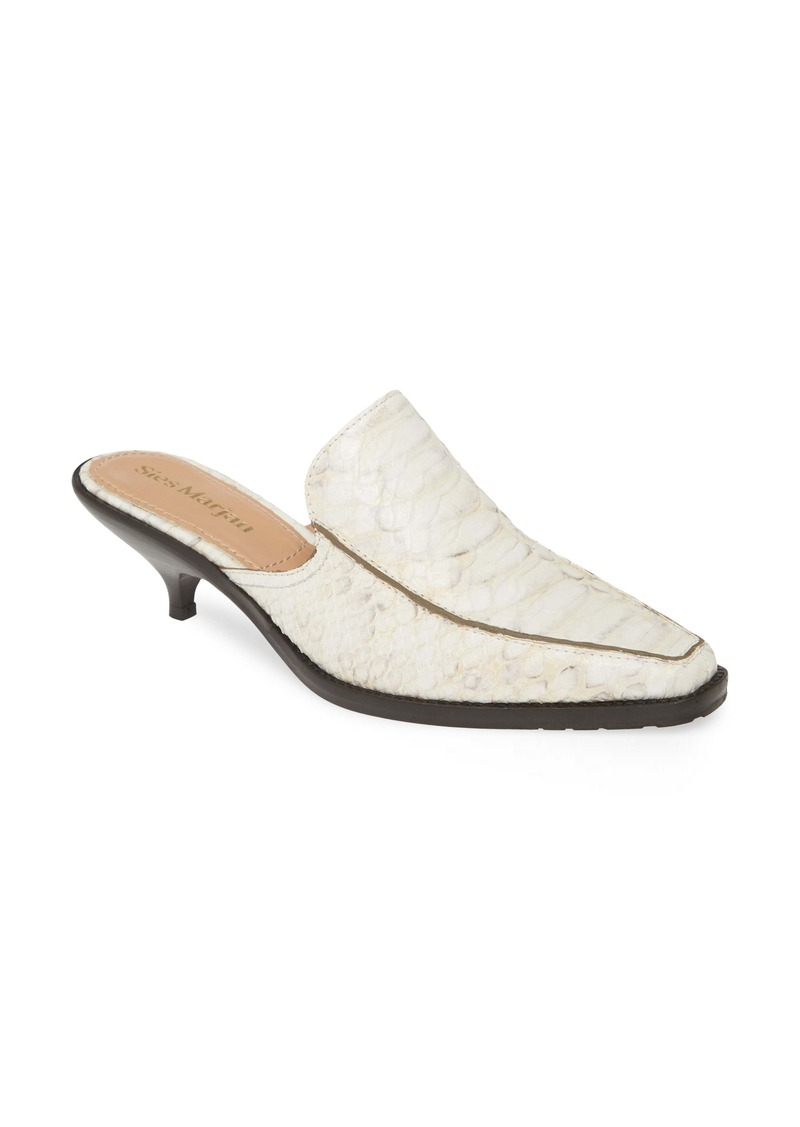 Sies Marjan Snake Embossed Loafer Mule (Women)