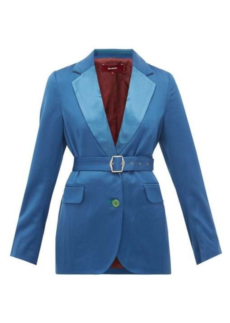 Sies Marjan Terry belted wool-twill blazer