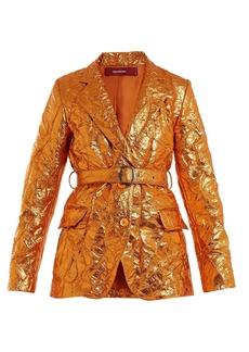 Sies Marjan Terry crinkled-finish blazer