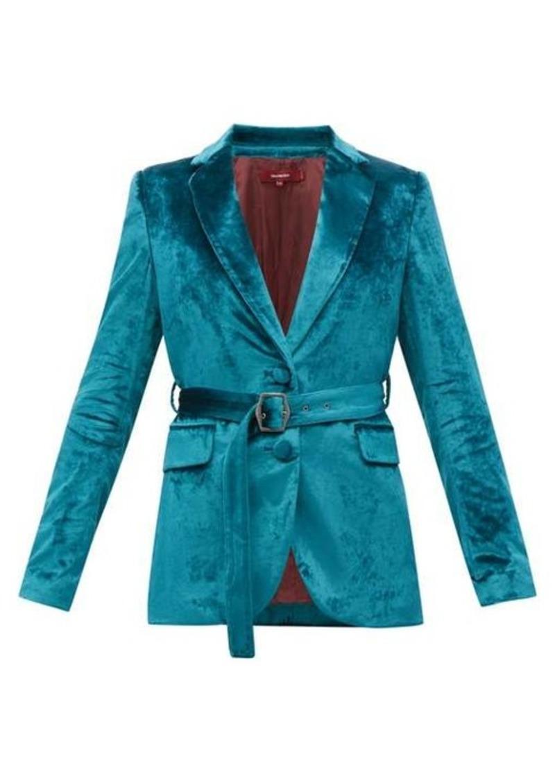 Sies Marjan Terry single-breasted belted velvet jacket