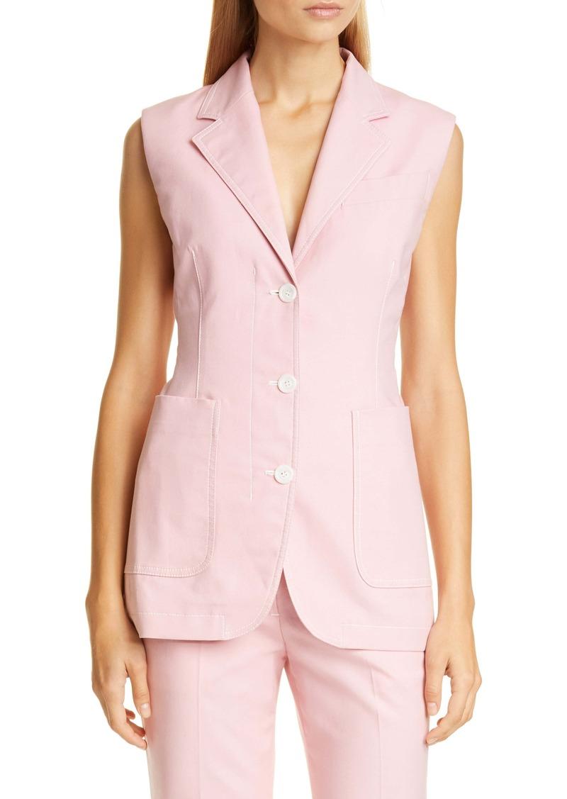 Sies Marjan Victoria Stretch Cotton Canvas Vest