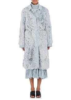 Sies Marjan Women's Alpaca Fur Belted Coat