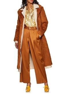 Sies Marjan Women's Devin Canvas-Lined Faux-Shearling Belted Coat