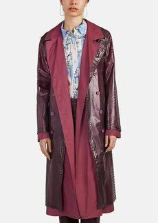 Sies Marjan Women's Devin Crocodile-Embossed Trench Coat