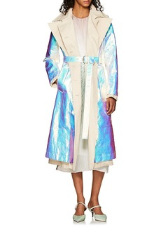 Sies Marjan Women's Devin Iridescent Cotton Poplin Trench Coat