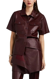 Sies Marjan Women's Nico Leather Button-Front Shirt