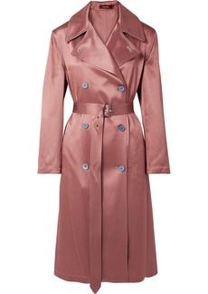 Sies Marjan Sigourney Satin-twill Trench Coat