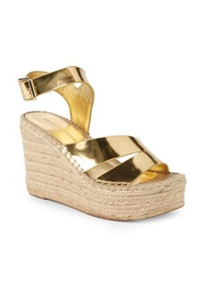 Sigerson Morrison Arien Leather Wedge Espadrilles
