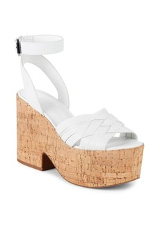 Sigerson Morrison Becca Leather Ankle-Strap Sandals