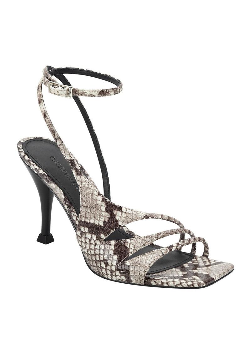 Sigerson Morrison Carissa Snake-Print Strappy Sandals