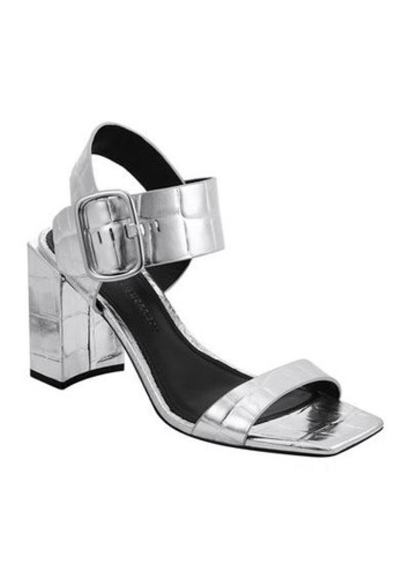 Sigerson Morrison Carmel Metallic Mock-Croc Sandals