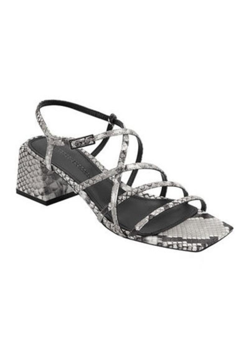 Sigerson Morrison Ellia Crisscross Colorblock Leather Strappy Sandals