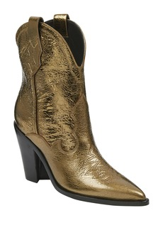 Sigerson Morrison Kalila Metallic Leather Western Booties
