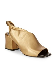Sigerson Morrison Lenny Block Heel Leather Sandals