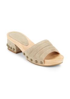 Sigerson Morrison Abel Suede Slide Sandals