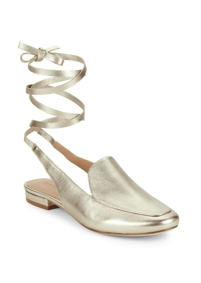 Sigerson Morrison Ankle-Tie Leather Shoes