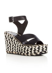 Sigerson Morrison Arien Leather Platform Wedge Sandals