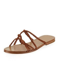 Sigerson Morrison Brock Braided Suede Sandals