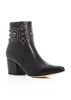 Sigerson Morrison Cailyn Embellished Pointed Toe Booties