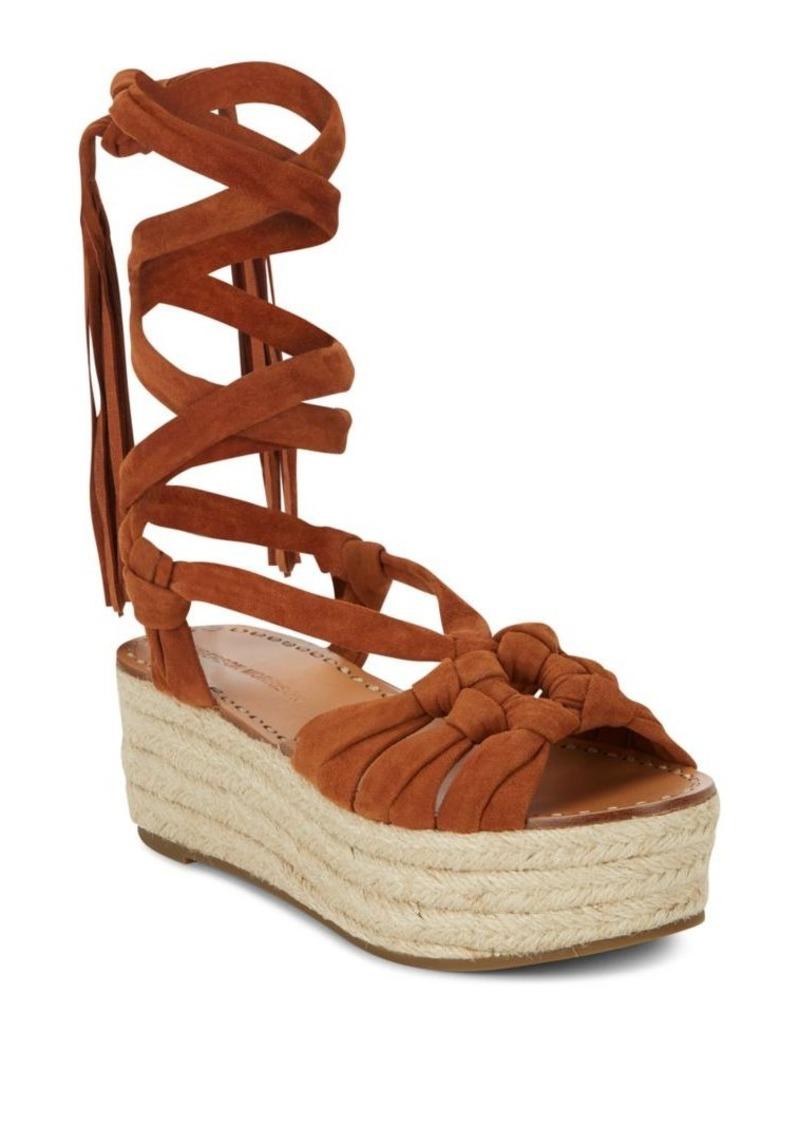 42165a63184 Cosie Lace-Up Suede Espadrille Platform Sandals