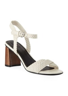 Sigerson Morrison Darby Braided Leather Sandals