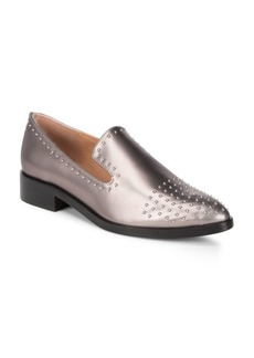 Sigerson Morrison Edna Leather Stud Loafers