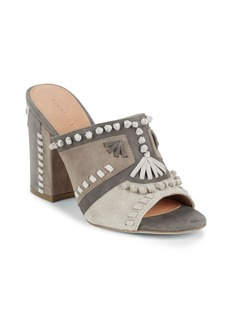 Sigerson Morrison Embroidered Leather Sandals