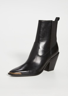Sigerson Morrison Faith Double Gore Square Toe Booties