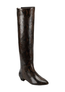 Sigerson Morrison Gareth Snake Embossed Over the Knee Boot (Women)