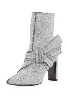 Sigerson Morrison Helin Metallic Stretch-Knit Bootie