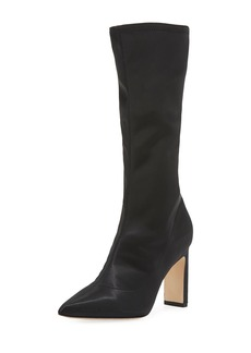 Sigerson Morrison Holly Glove Stretch-Satin Tall Boot