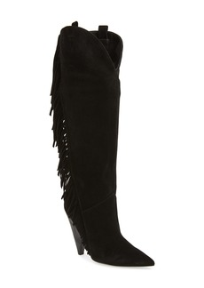 Sigerson Morrison Janey Fringed Knee High Boot (Women)