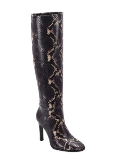 Sigerson Morrison Kailey Snakeskin Embossed Knee High Boot (Women)