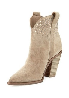 Sigerson Morrison Kalie Pointed-Toe Suede Stud Boot