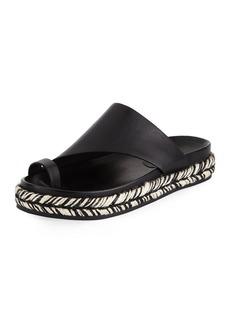 Sigerson Morrison Laddie Flat Espadrille Sandal