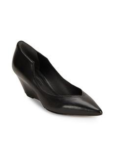 Sigerson Morrison Leather Wedge-Heel Pumps
