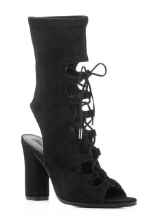 Sigerson Morrison Linda Lace Up Open Toe Booties