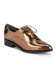 Sigerson Morrison Metallic Lace-Up Loafers