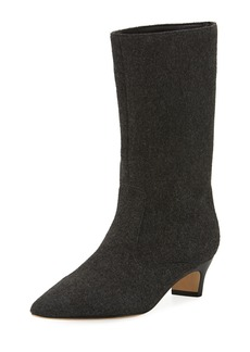 Sigerson Morrison Michelle Wool Mid-Calf Low-Heel Boot