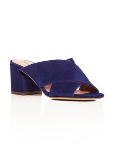 Sigerson Morrison Rhoda Crisscross Mid Heel Slide Sandals