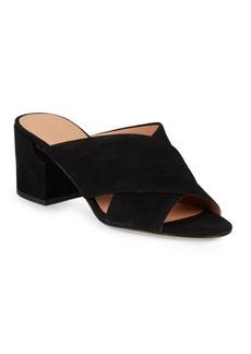 Sigerson Morrison Rhoda Suede Block-Heel Sandals