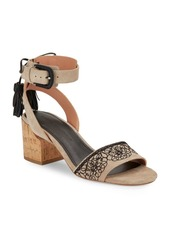 Sigerson Morrison Riva Embroidered Ankle Strap Sandals
